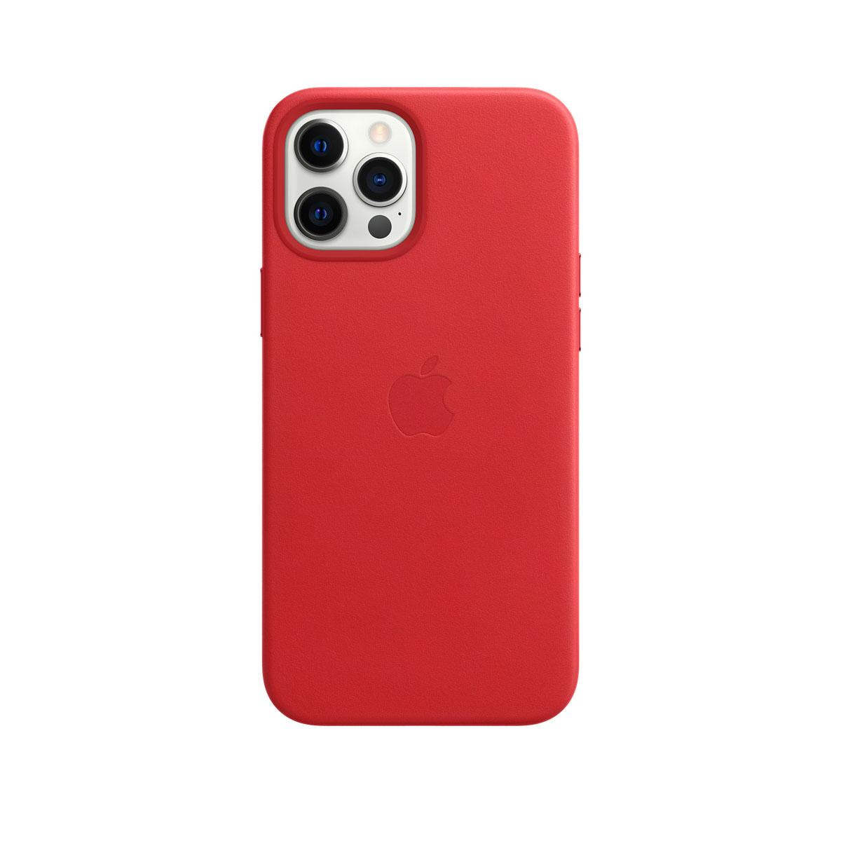 Apple iPhone 12 Pro Max Leather Case Scarlet
