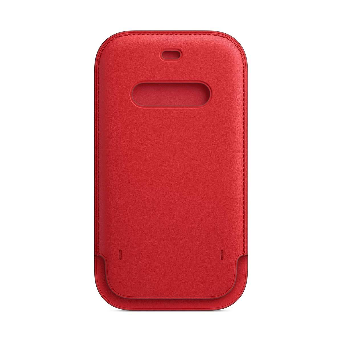 iPhone 12 | 12 Pro Leather Sleeve Scarlet