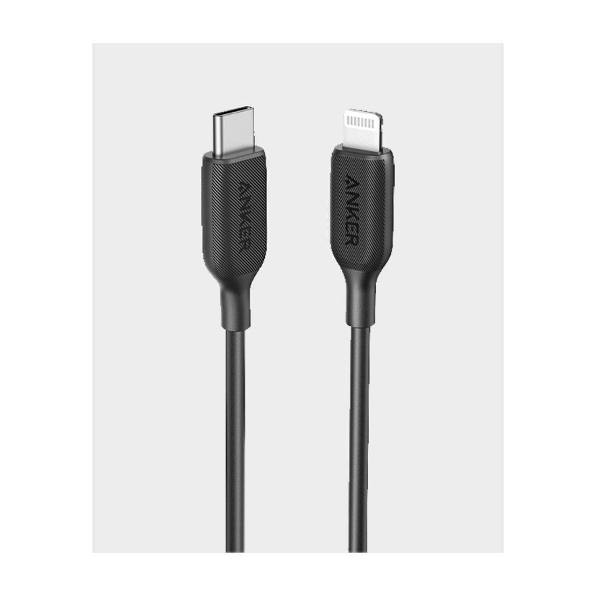 Anker Cable USB-C To Lightning 3ft Powerline III Black