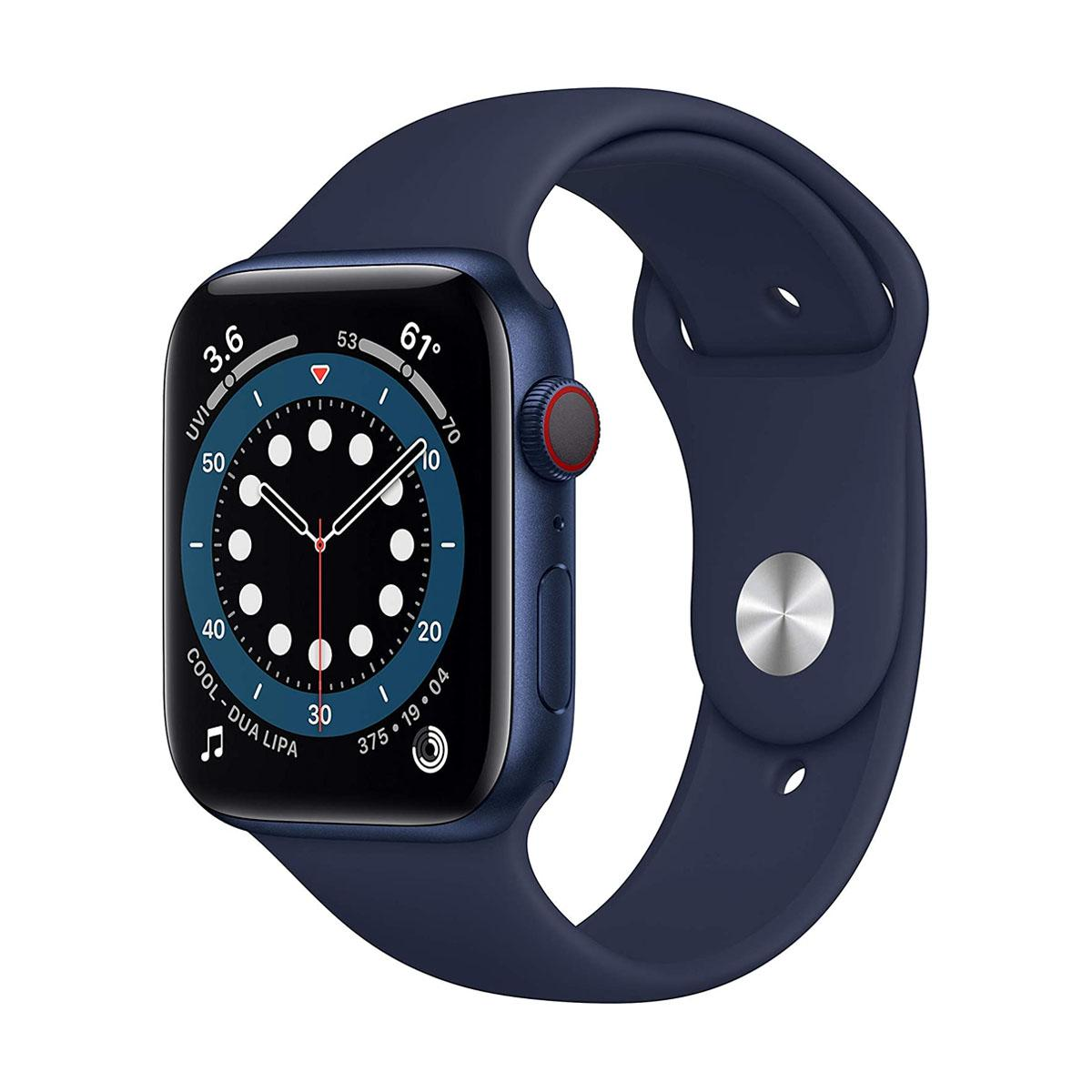 Apple Watch Series 6 GPS + Cellular, 44mm Blue with Deep Navy Sport Band