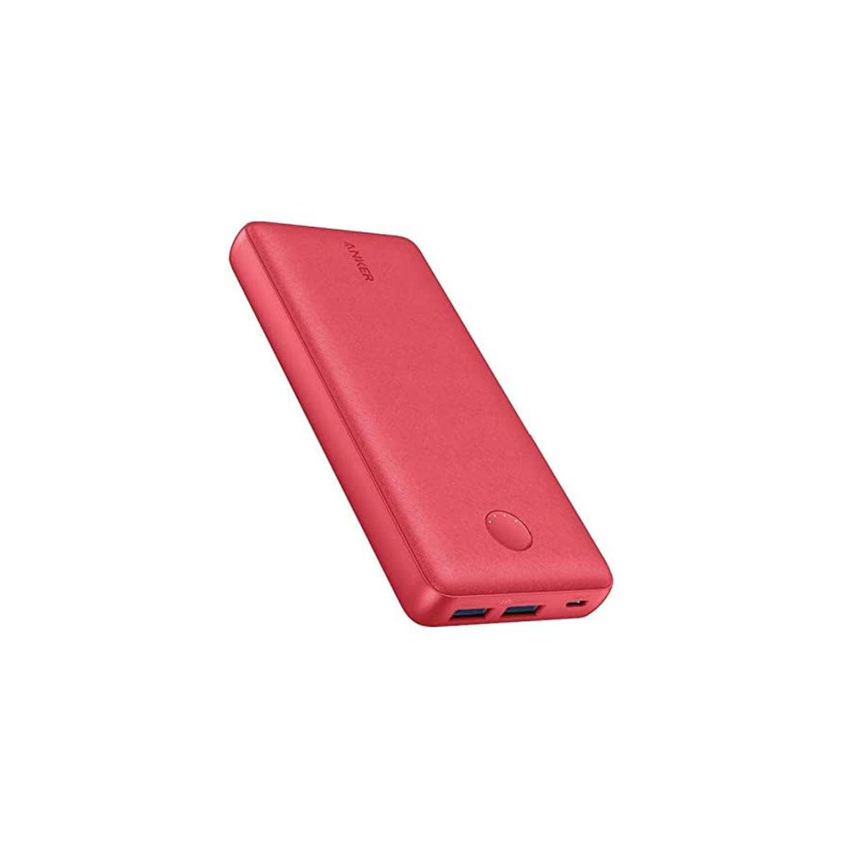 Anker Power Bank 20,000mAh with 2 USB-A PowerCore Select 20K Red