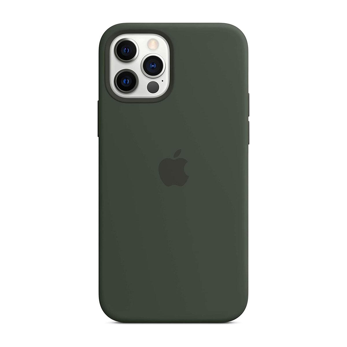 iPhone 12   12 Pro Magsafe Silicone Case Cyprus Green