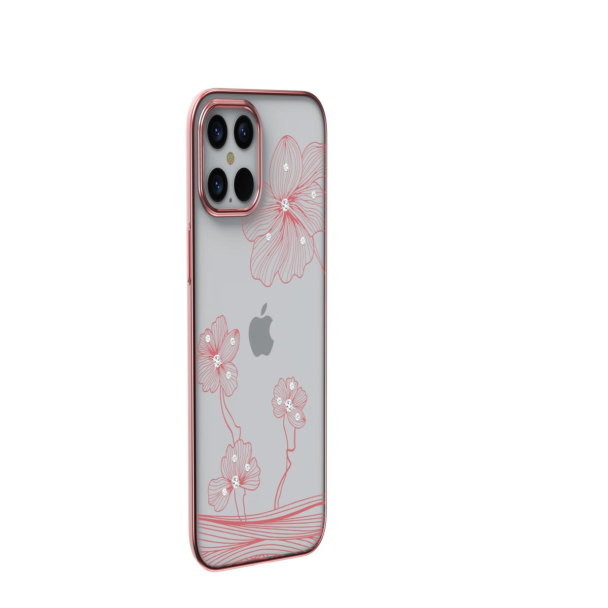 Devia Crystal Flora Case for iPhone 12 Pro Max - Rose Gold