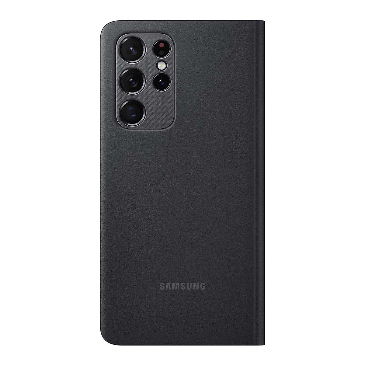 Samsung Galaxy S21 Ultra Smart Clear View Cover - Black