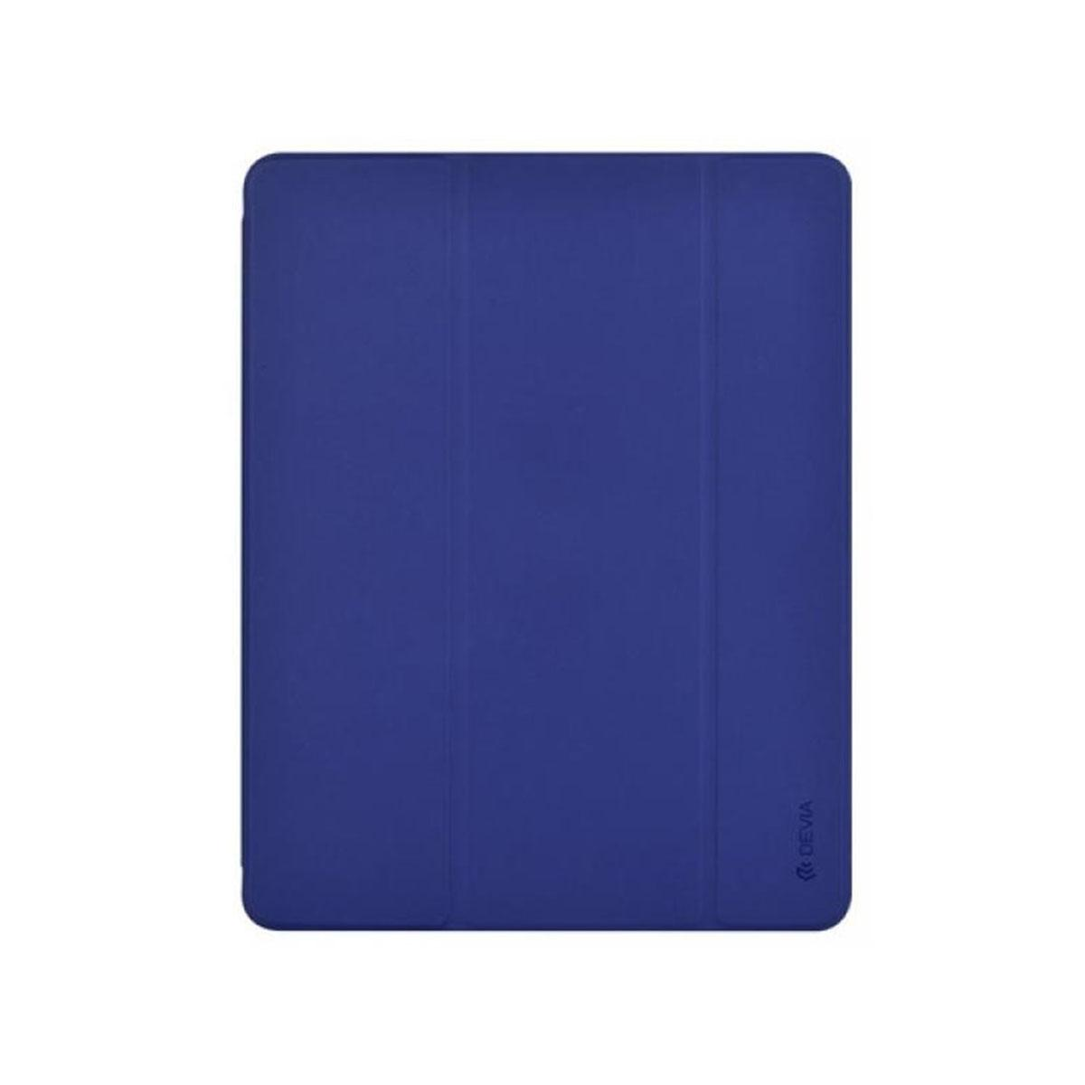 Devia iPad Air 4 10.9-inch Leather Case with Pencil Slot -Blue