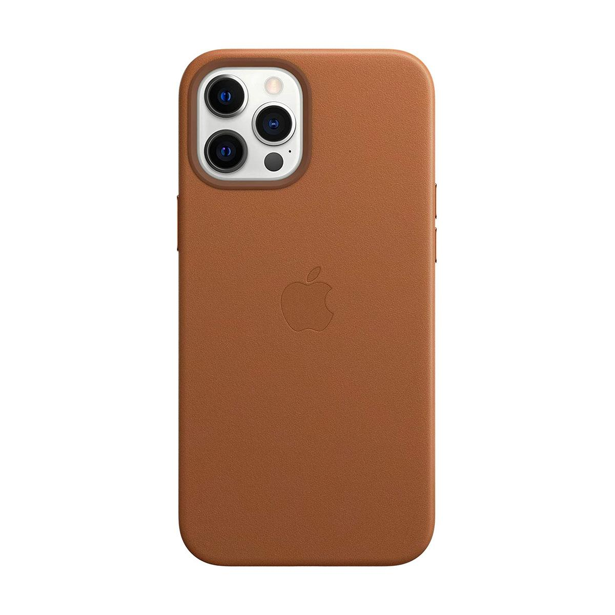 iPhone 12   12 Pro Leather Case Saddle Brown