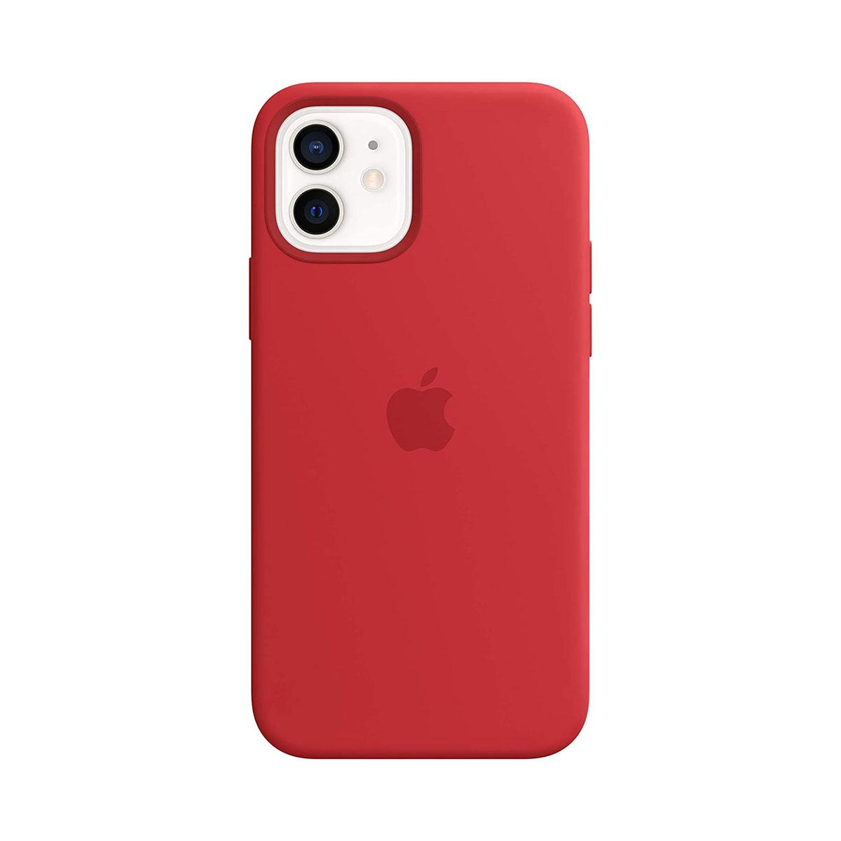 iPhone 12   12 Pro Magsafe Silicone Case - Red
