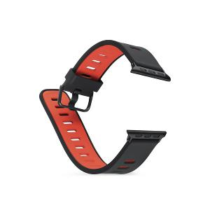 WATCH BAND 38MM-Black/Red-DEVIA TWO-TONE SERIES