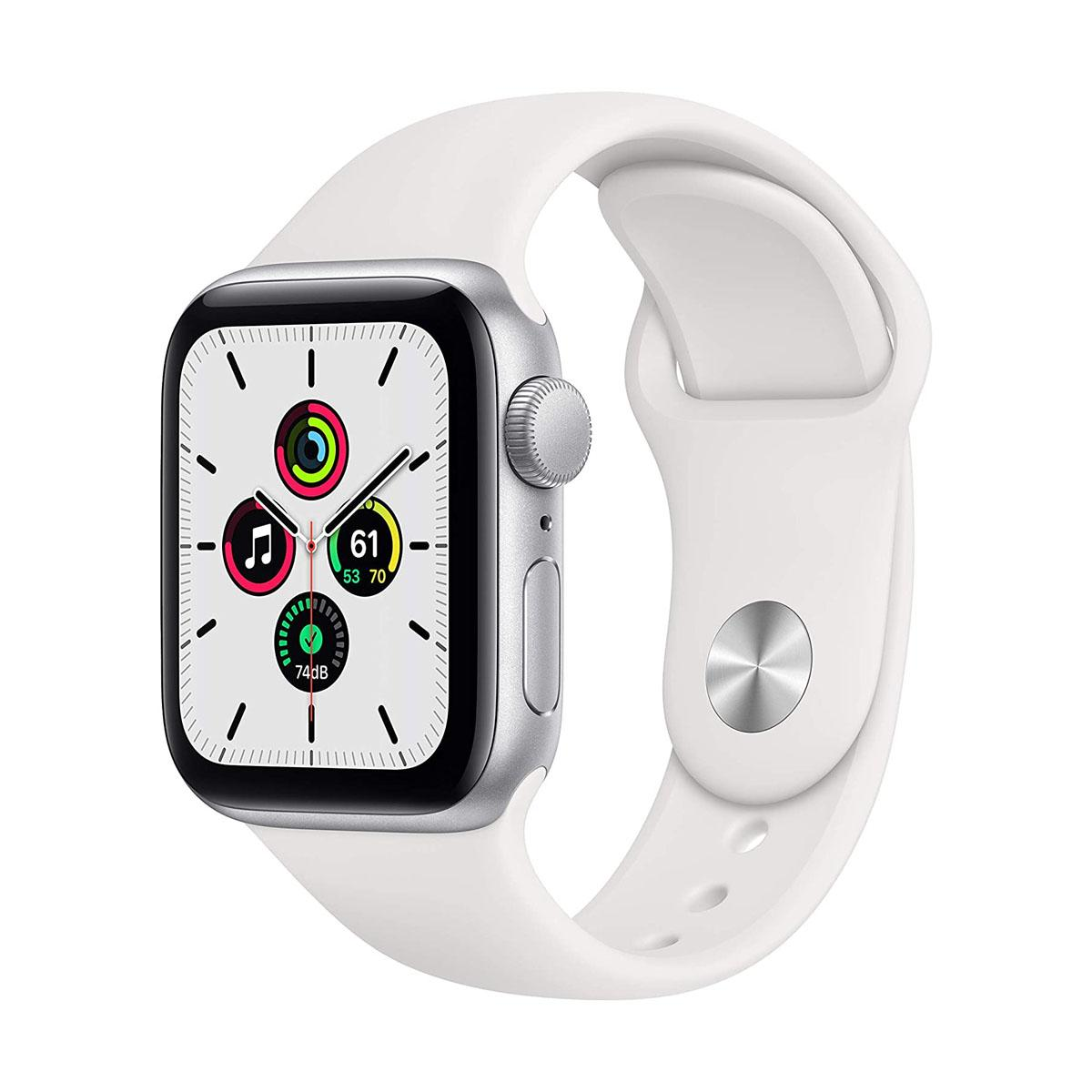Apple Watch SE GPS + Cellular 40mm Silver with White Sport Band
