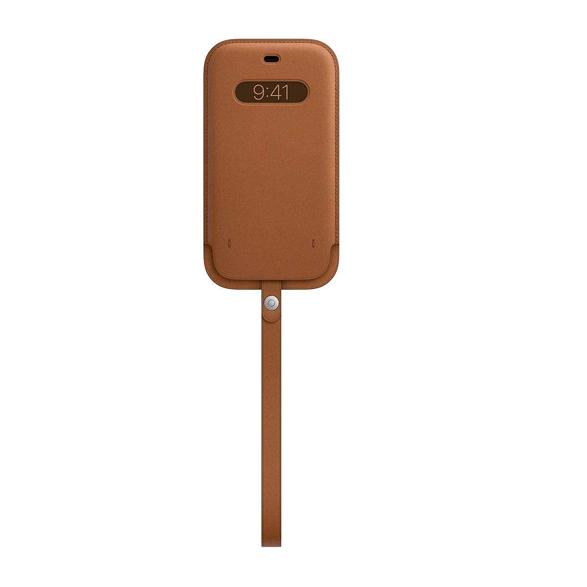 iPhone 12 | 12 Pro Leather Sleeve Saddle Brown