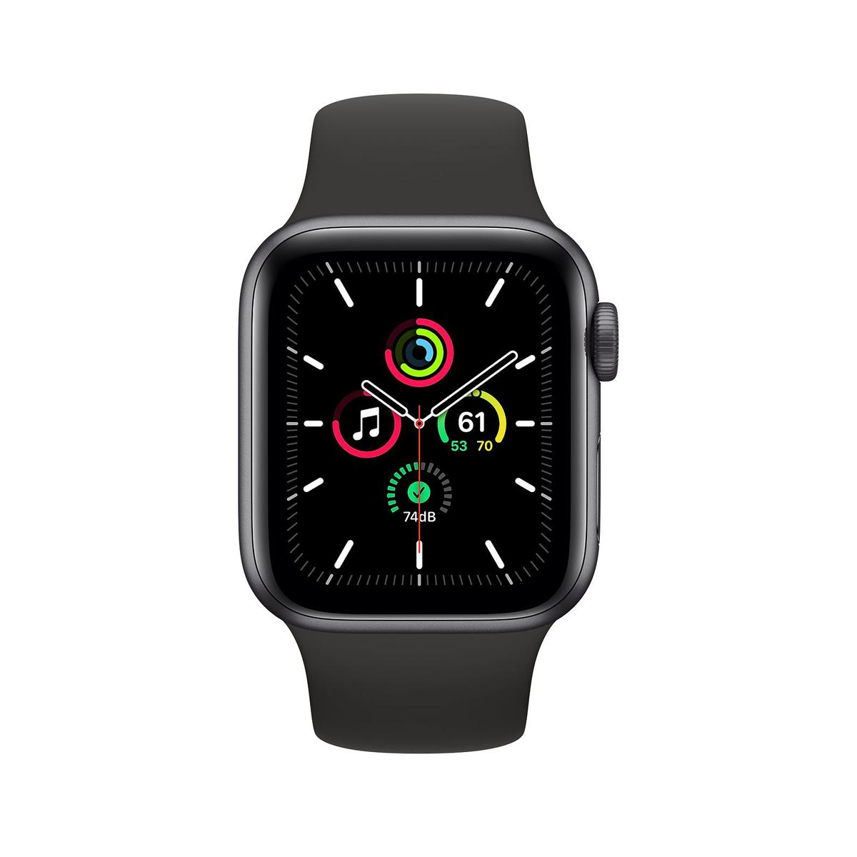 Apple Watch SE GPS 44mm Space Gray with Black Sports Band