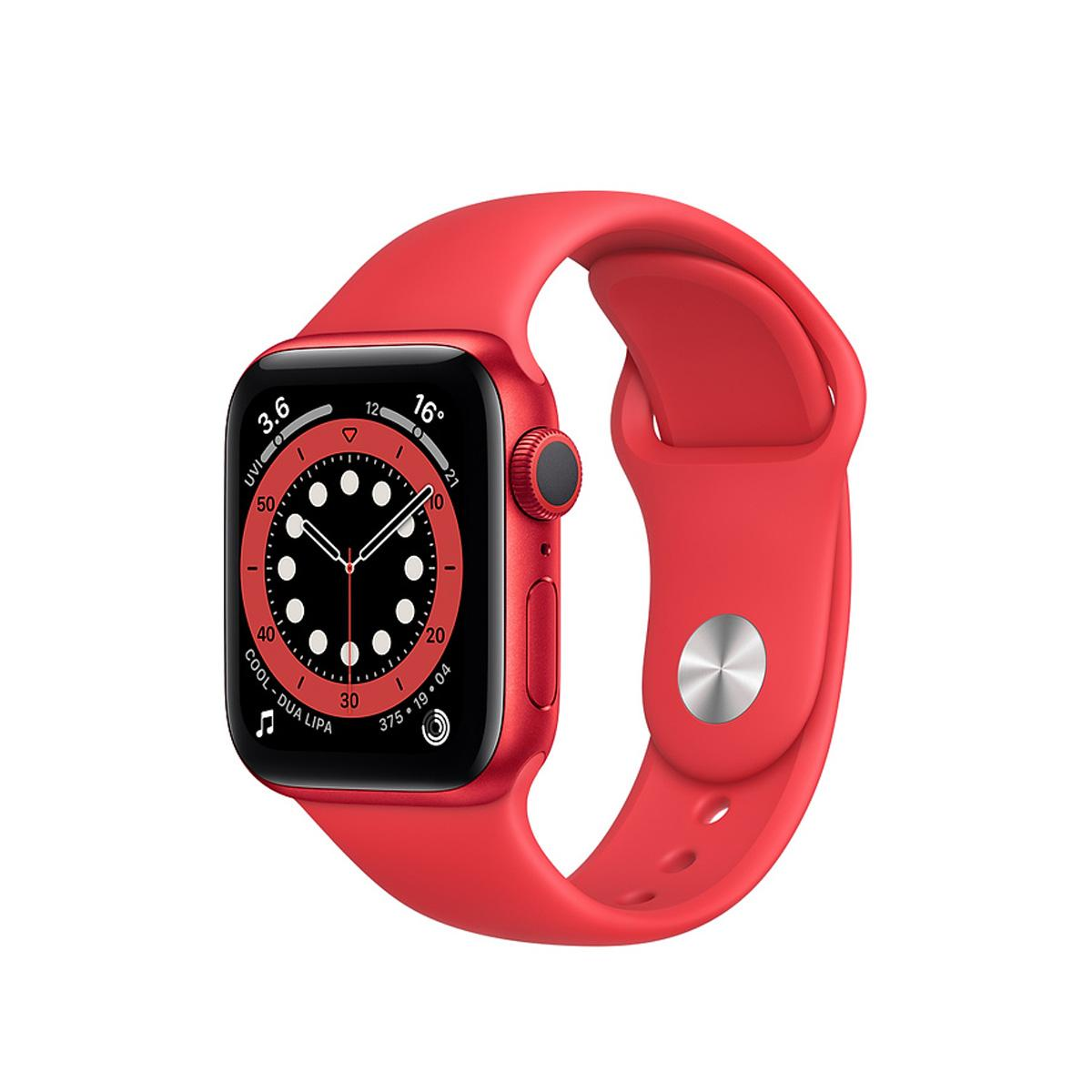 Apple Watch Series 6 GPS 44mm Sports Band - Red
