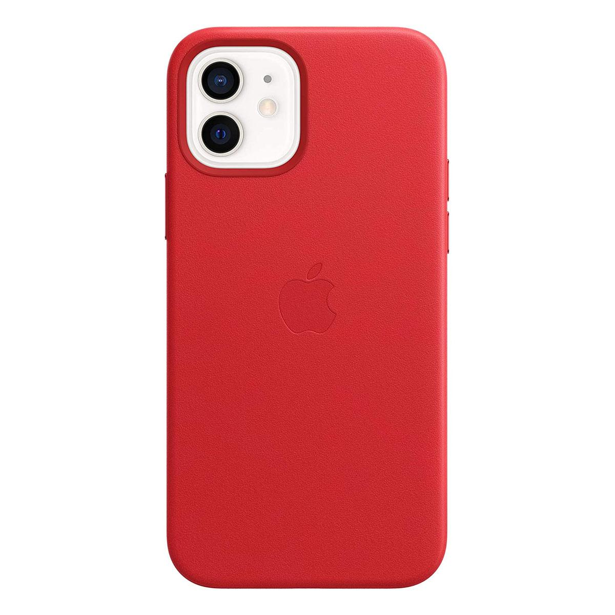 iPhone 12   12 Pro Leather Case Scarlet