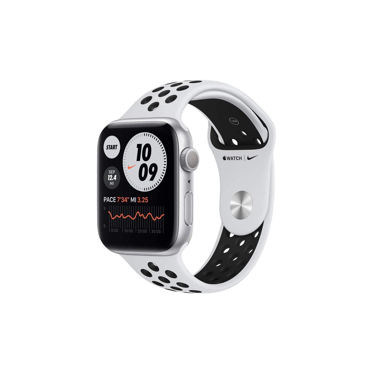 Apple Watch Nike Series 6 GPS, 44mm Silver with Pure Platinum/Black Nike Sport Band