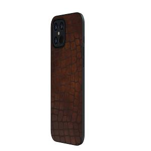 CASE FOR IPHONE 12 PRO  BROWN ELEGANT LEATHER DEVIA