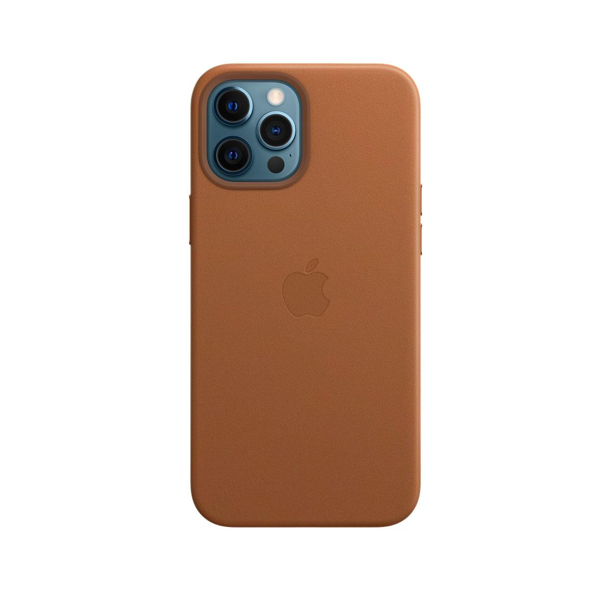 Apple iPhone 12 Pro Max Leather Case Saddle Brown