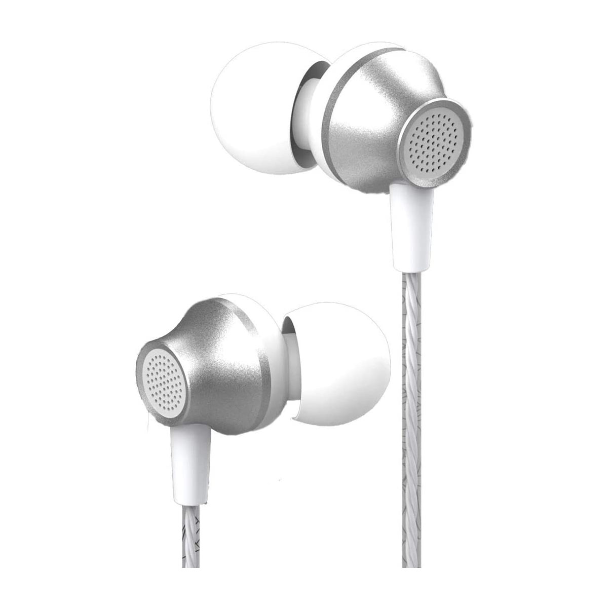 Devia Earphone With Remote and Mic Silver