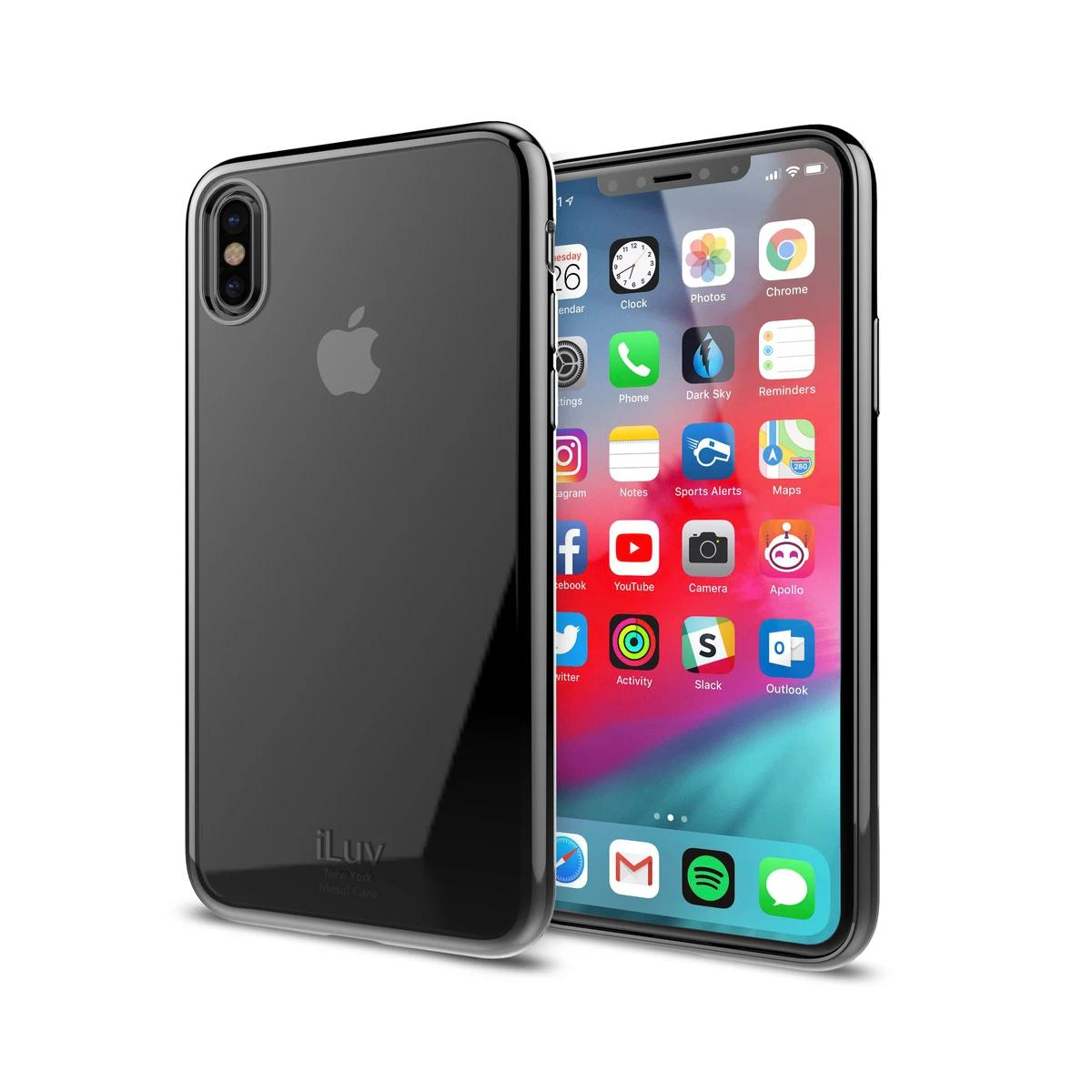 iLuv Metal Back Cover Case for iPhone XR