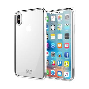 CASE FOR iPHONE X / XS - iLUV BACK COVER- SILVER
