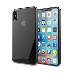 CASE FOR iPHONE X / XS - iLUV BACK COVER- BLACK
