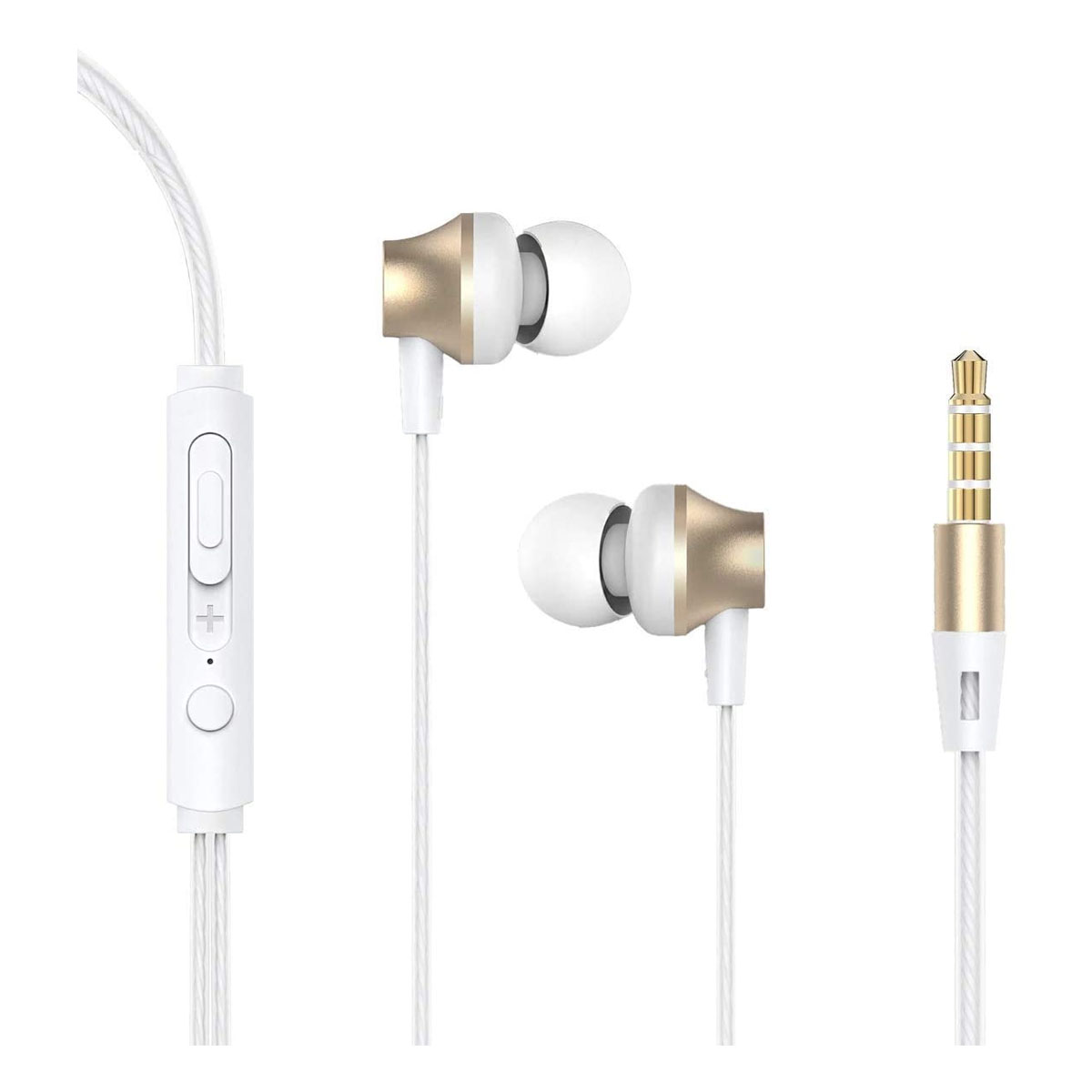 Devia Earphone with Remote and Mic Gold