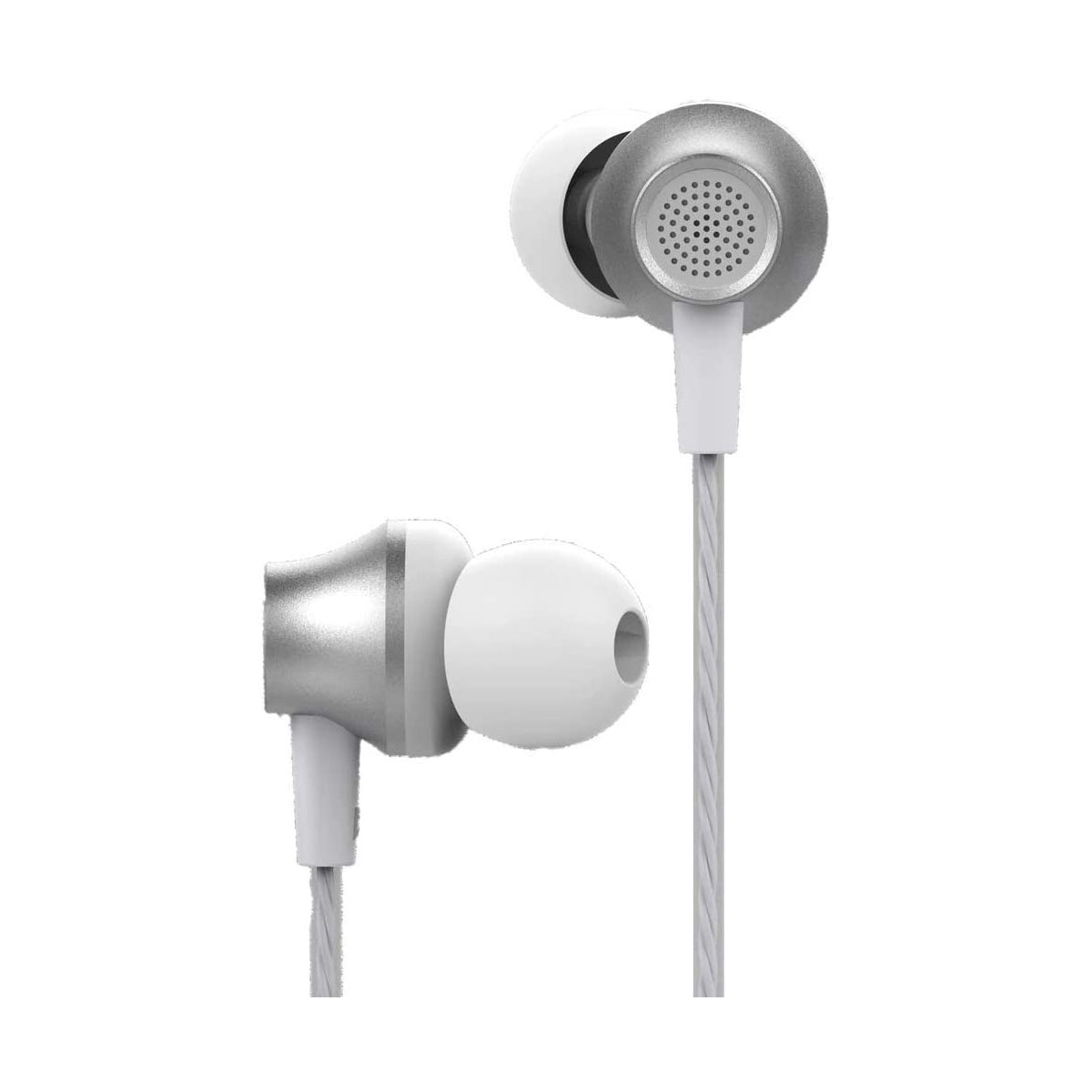 Earphone With Remote And Mic Silver Devia